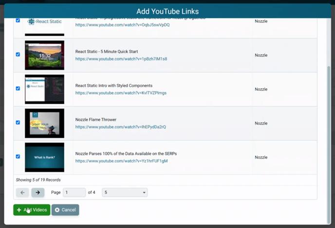 Brand YouTube - add videos